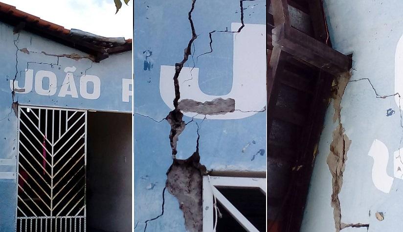 SATUBINHA/MA – VÍDEO: Escola prestes a desabar coloca vida de alunos em risco