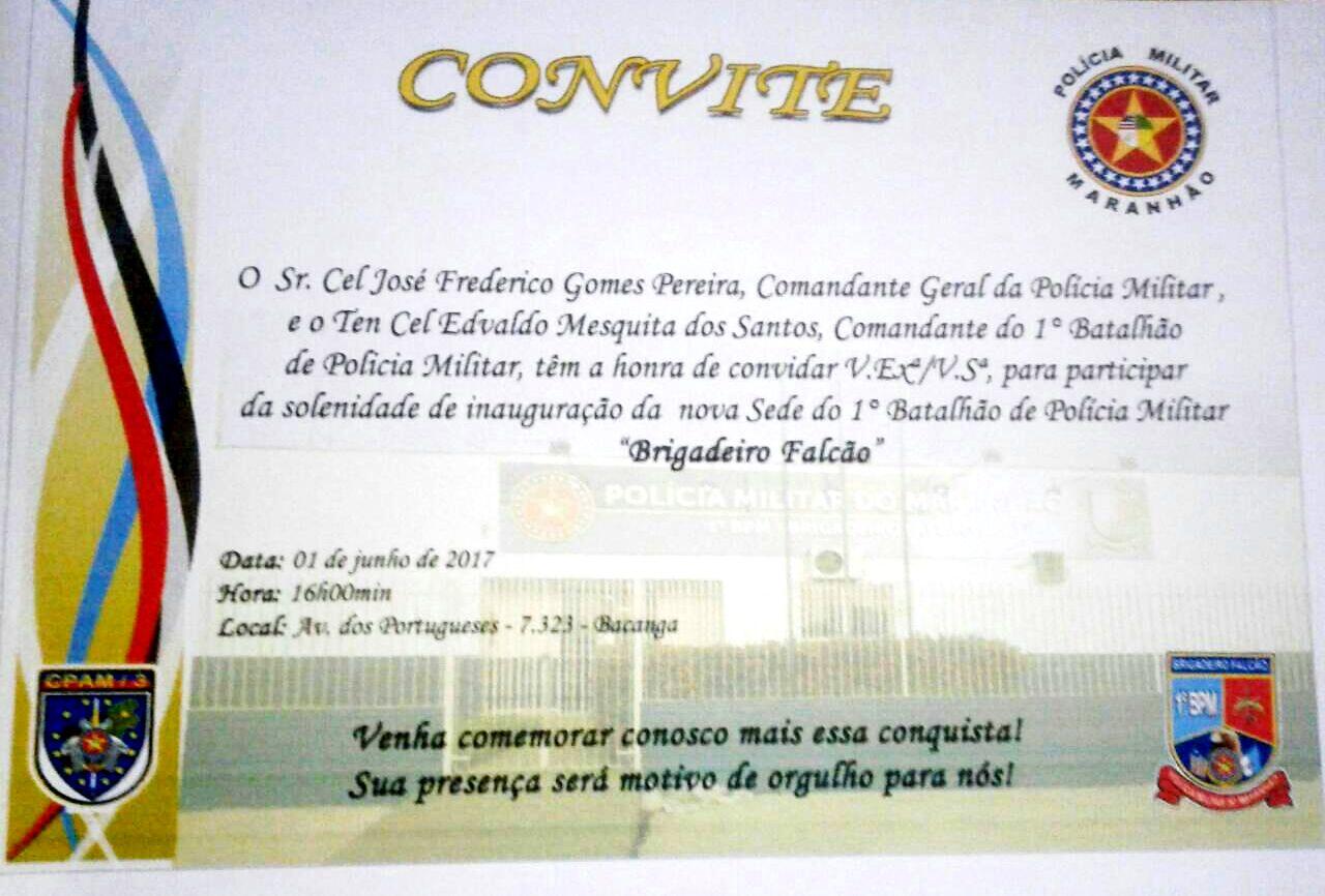 """SÃO LUÍS/MA – Área Itaqui – Bacanga ganha nova Sede do 1ª Batalhão de Polícia Militar """"BRIGADEIRO FALCÃO"""""""