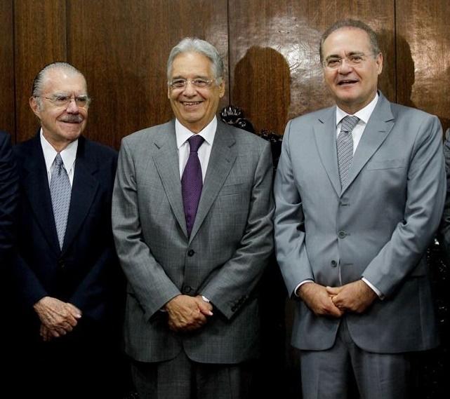 Sarney, FHC e Renan Calheiros articulam novo nome para substituir Temer, diz jornal