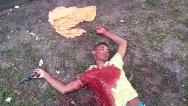 ROSÁRIO/MA – Assaltante é morto no povoado São Simão,após trocar de tiros com a PM.