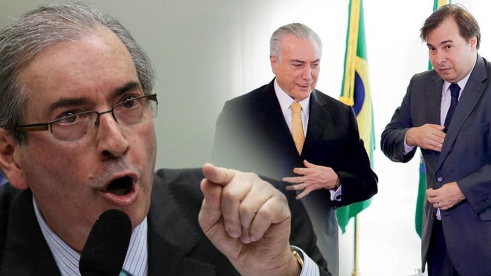 """BOMBA: Cunha manda recado para Maia que pretende ser Presidente: """"Tenho uma delação exclusiva sua"""""""