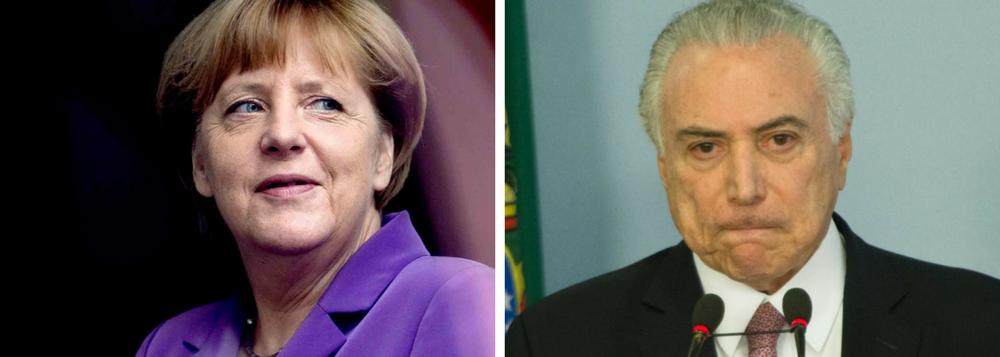 HUMILHADO DE NOVO: CHANCELER ALEMÃ, MERKEL CRITICA CORRUPÇÃO E CANCELA JANTAR COM TEMER NO G20