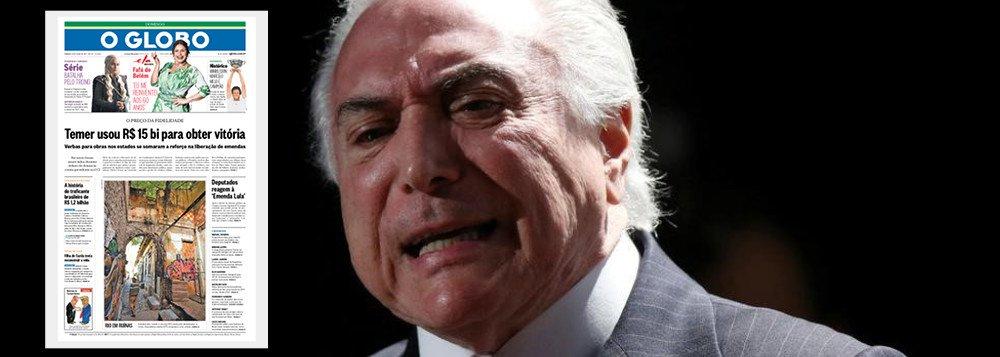 ATUALIZADO: Temer comprou votos na CCJ por R$ 15 bilhões