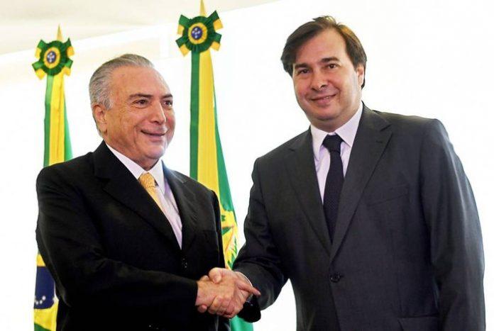 O Deputado Rodrigo Maia com ajuda do Sogro, Moreira Franco, pode vir a substituir Temer ou conduzir um eventual processo de Impeachment