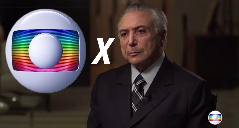Temer parte para guerra contra Globo e decide cobrar todas dívidas da emissora