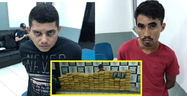 PRESIDENTE DUTRA/MA – Policia prende dois homens com 100 kg de maconha na rodoviária