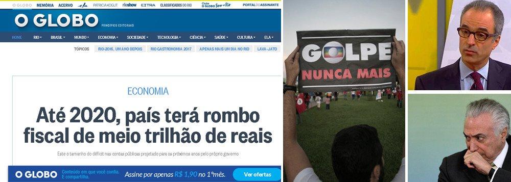 GLOBO APONTA ESTRAGO DO GOLPE: ROMBO DE R$ 500 BI