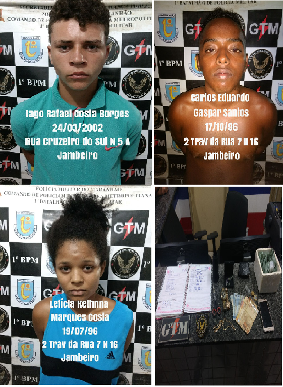 SÃO LUÍS/MA – FIM DE SEMANA AGITADA PRA POLICIA MILITAR DO 1º BATALHÃO DO ITAQUI BACANGA