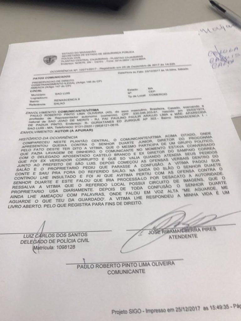 Ex-vereador Carioca registra queixa contra diretor do Procon