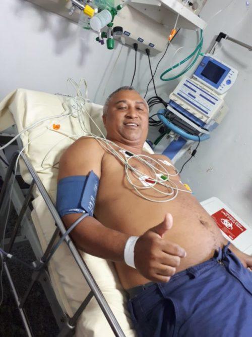 VIANA/MA – Prefeito Magrado Barros de Viana sofre princípio de infarto e se recupera em São Luís