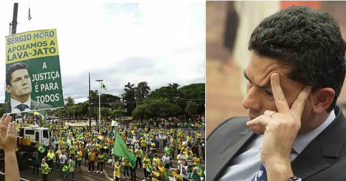 Protesto a favor de Moro em Maringá tem baixa adesão e vira fiasco