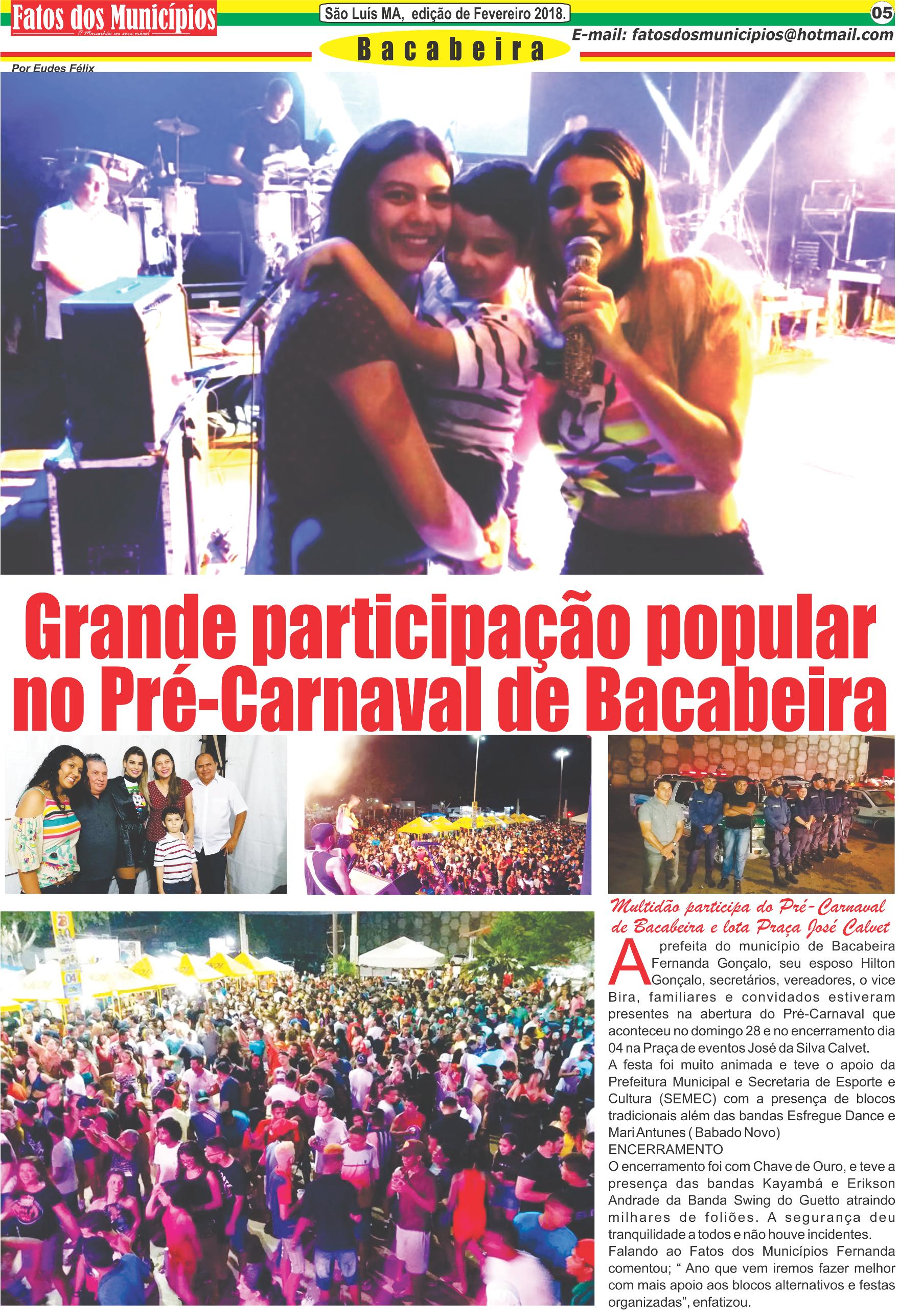 Bacabeira/Ma – Grande participação popular  no Pré-Carnaval de Bacabeira
