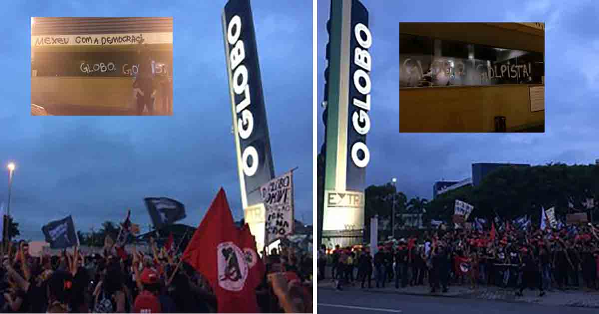 Mulheres ocupam jornal O Globo para denunciar o golpe
