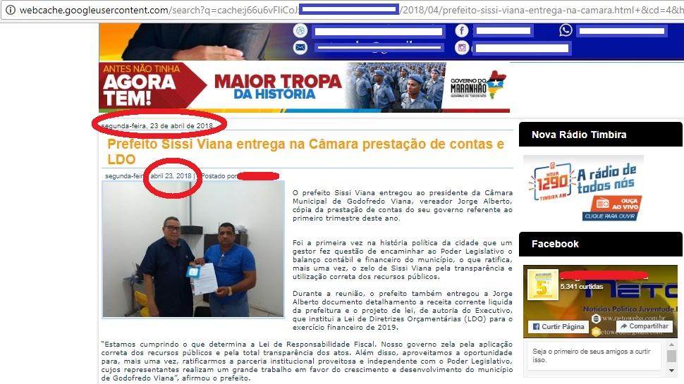Absurdo!!! Prefeito de Godofredo Viana pode ter ocultado informação ao TCE