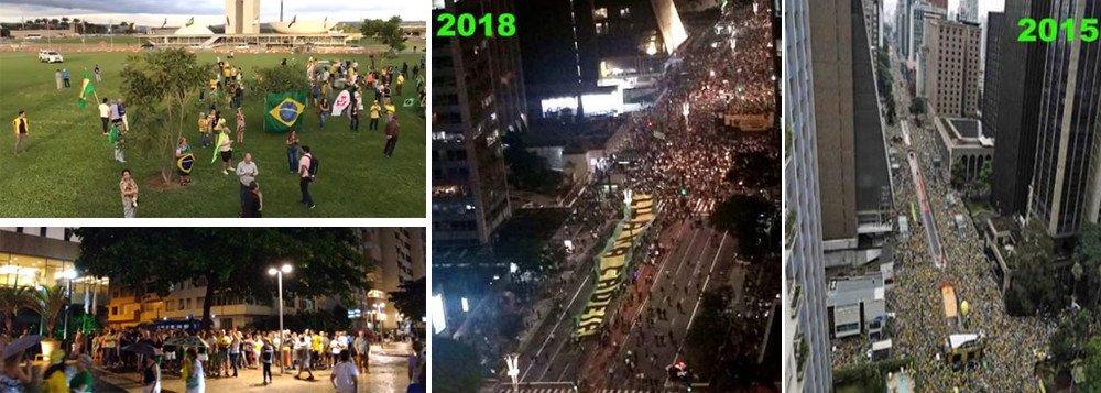 PROTESTOS PELA PRISÃO DE LULA FRACASSAM