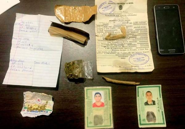 ROSÁRIO/MA – Polícia Militar prende dois homens suspeitos de assalto à bancos.