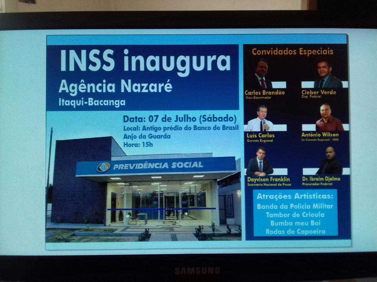 SÃO LUIS/MA – Eixo ITAQUI-BACANGA ganha agência do INSS que será inaugurada sábado dia (07)
