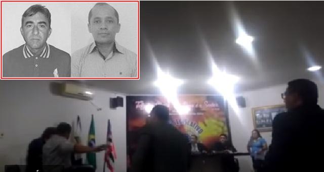 PERITORÓ/MA – Dois vereadores vão aos tapas na Câmara Municipal