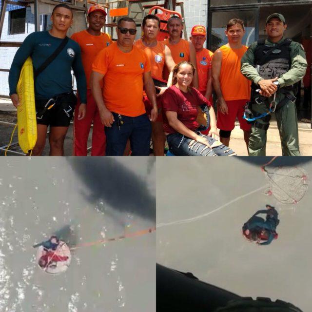 São Luis/MA – Mulher se afoga na praia da Ponta da Areia, mas CTA consegue fazer o resgate