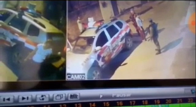 São Luis/MA – PM sem farda ameaça vizinho com revólver em punho e tem proteção de viatura