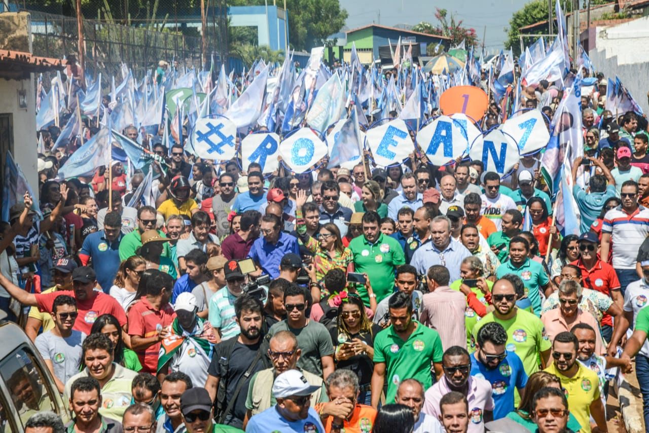 """Cerca de 10 mil pessoas no """"Arrastão do 15"""" com Roseana em Bacabal"""