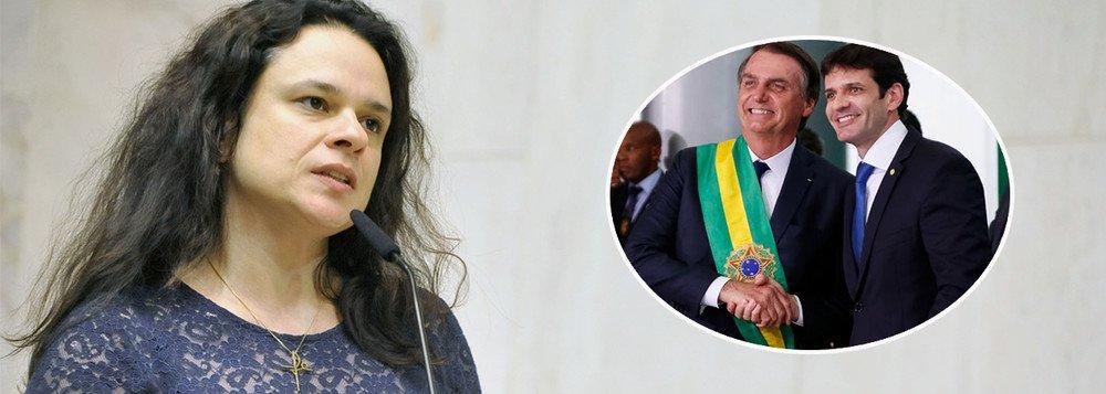 JANAINA SE SOLIDARIZA A DEPUTADA AMEAÇADA DE MORTE E EXIGE DEMISSÃO DO MINISTRO DO TURISMO