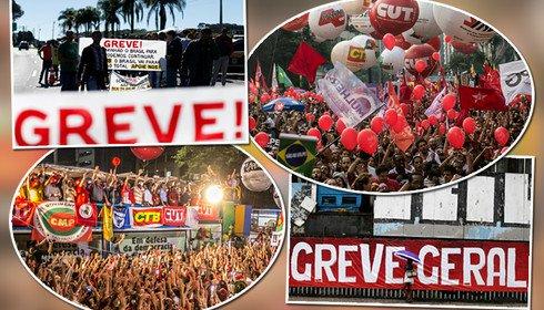 Unidos e convencidos, sindicatos preparam greve geral