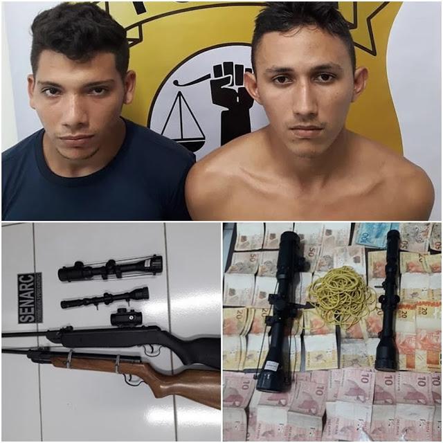 Timon/MA – Integrantes de facção criminosa são presos com drogas, dinheiro e armas