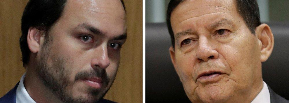 MOURÃO PROVOCA CARLOS BOLSONARO: 'SUMIU'