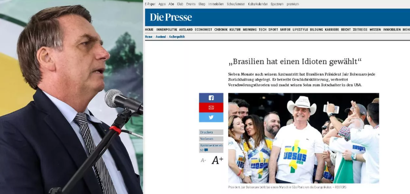 Brasil elegeu um idiota, diz jornal austríaco