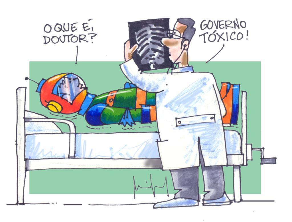Imagem do Dia: Miguel Paiva – MAIS UM MINISTRO BAIXA HOSPITAL