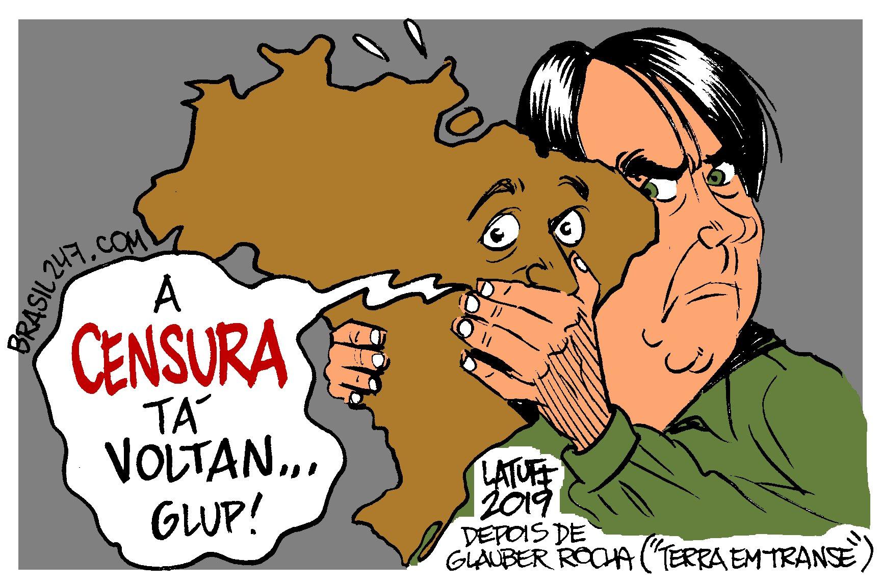 Imagem do Dia: Latuff – A censura está voltando