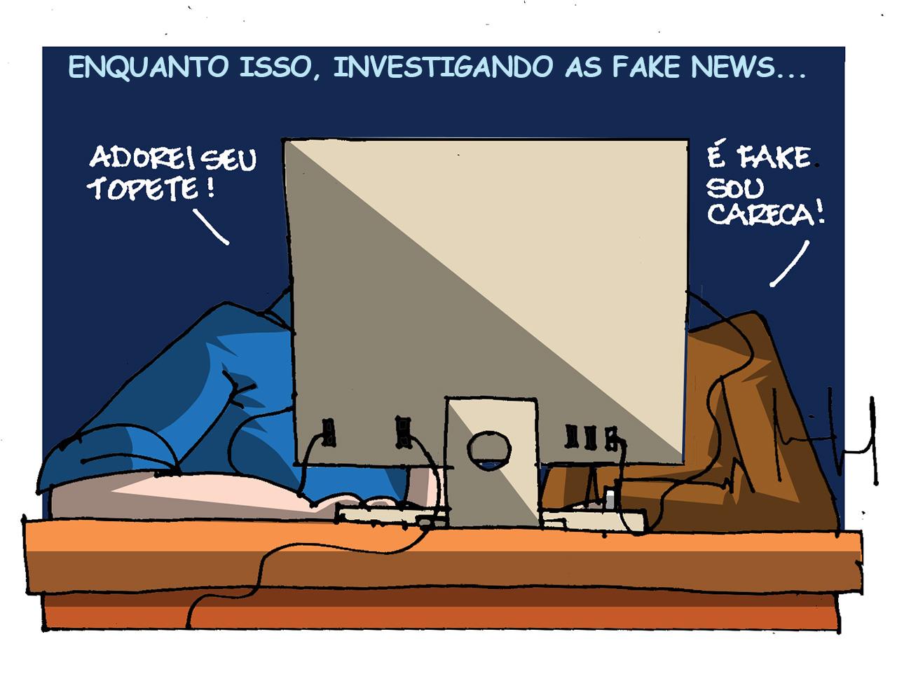 Imagem do Dia: Miguel Paiva – apuração das fake news