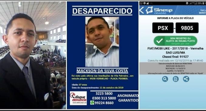 São Luís/MA – Pastor da Assembleia de Deus está desaparecido desde sexta-feira