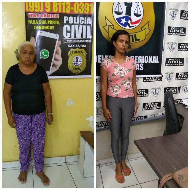 """Caxias/MA – """"Flagra"""" – Polícia Civil prende mulheres suspeitas de tentar golpe em agência bancária"""