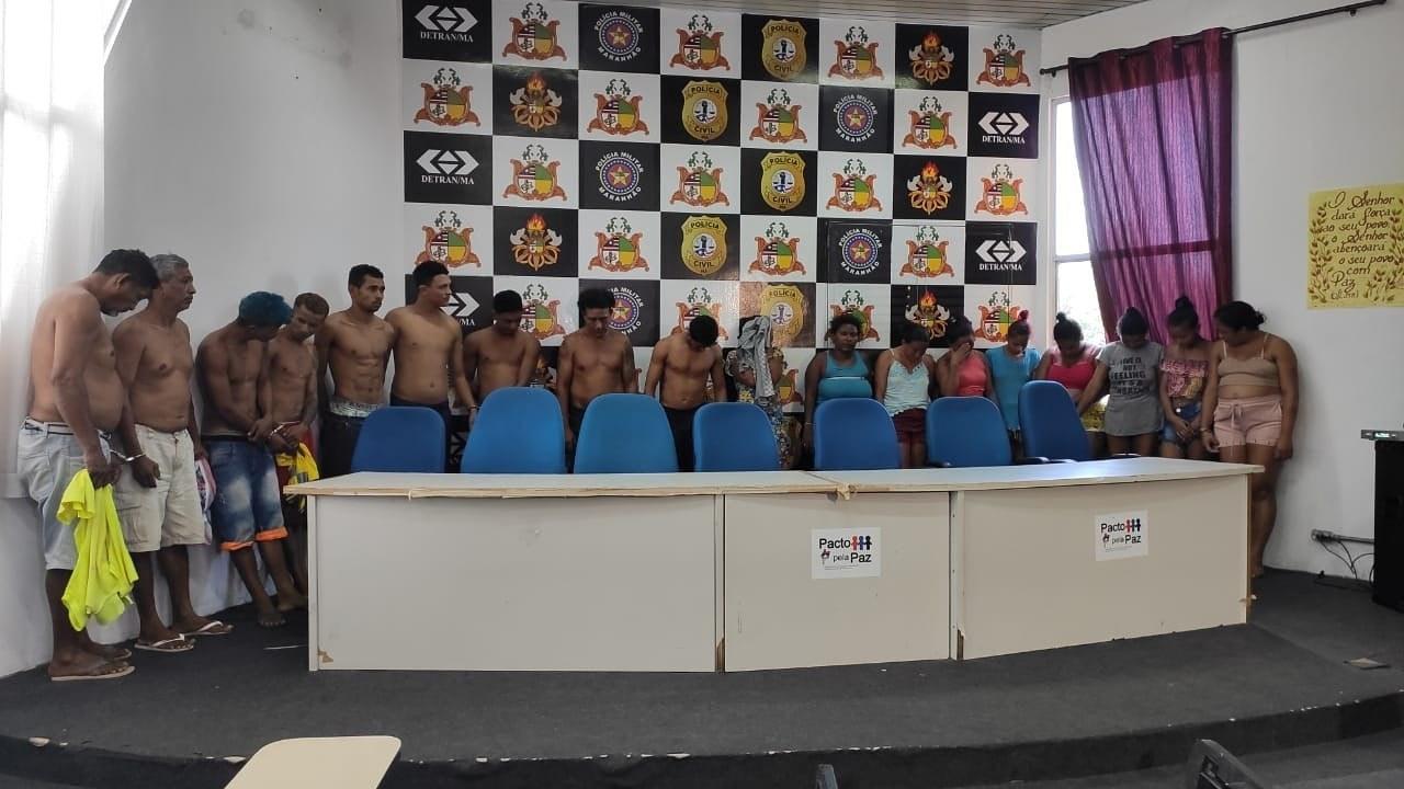 São Luis/MA – Polícia Civil prende 29 pessoas envolvidas com facções criminosas na capital