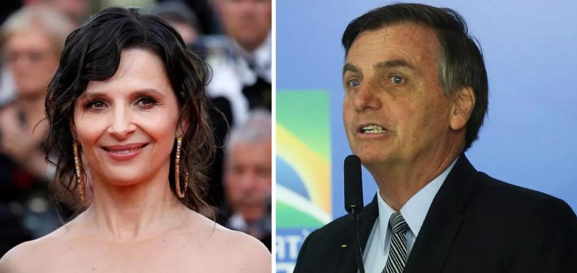 """Juliette Binoche diz que """"Bolsonaro dá medo"""""""