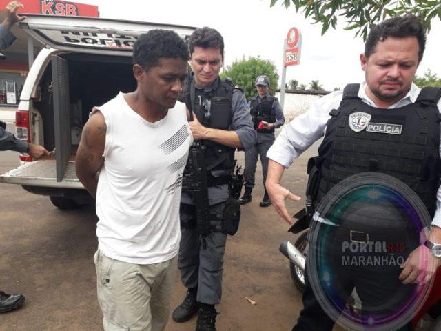 Coelho Neto/MA – Assaltante de alta periculosidade é preso em ação rápida da Polícia