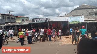 Pedreiras/MA – Carro desgovernado desce ladeira do Santuário de São Benedito e atinge várias motocicletas