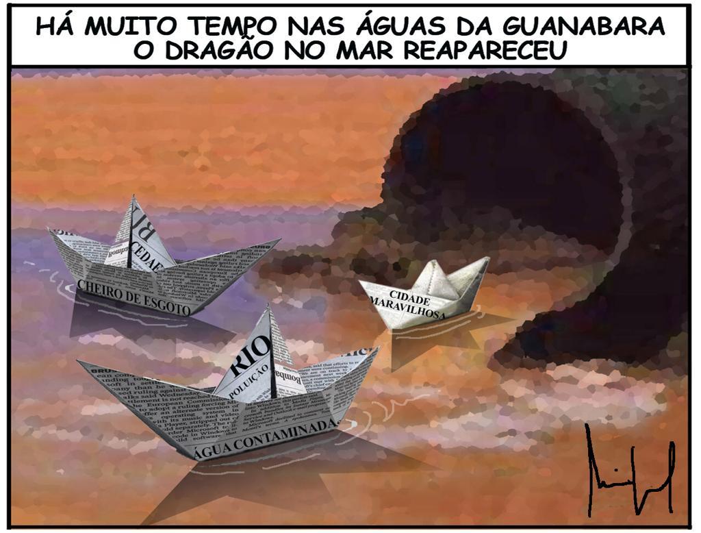 Imagem do Dia:  Rio Poluído de Janeiro