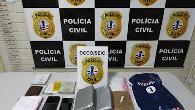 PAÇO DO LUMIAR/MA – DROGA AVALIADA EM R$ 60 MIL É APREENDIDA PELA POLÍCIA CIVIL, DUPLA É PRESA