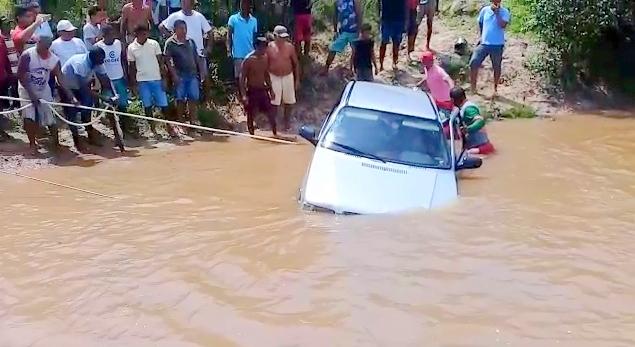 Presidente Vargas/MA – Idosa morre após carro cair em rio no Maranhão