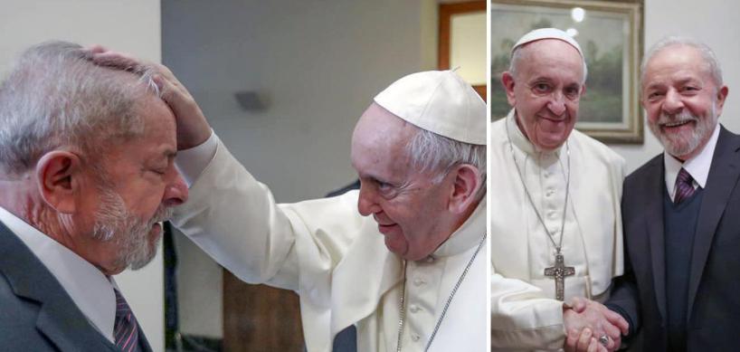 Lula e o Papa Francisco encontram-se em busca de um mundo menos desigual