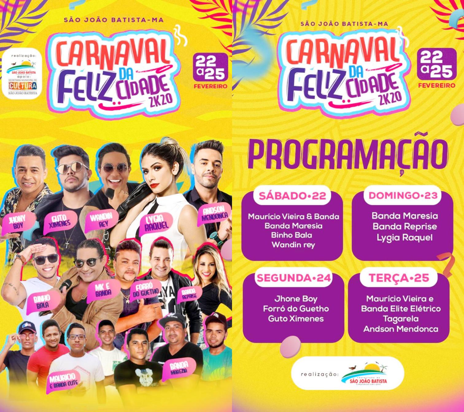 SÃO JOAO BATISTA/MA – Terá o melhor Carnaval da Baixada