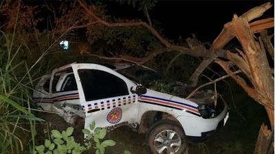 SANTA LUZIA/MA – POLICIAIS MILITARES FICAM FERIDOS EM ACIDENTE COM VIATURA NA BR-222 NO MA