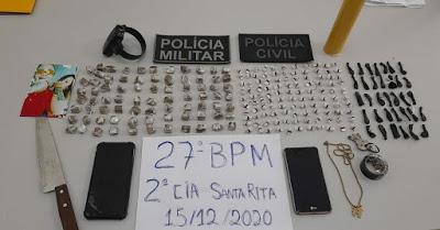 SANTA RITA/MA – POLÍCIA MILITAR E POLÍCIA CIVIL FAZEM GRANDE APREENSÃO DE DROGAS E PRISÃO DE TRAFICANTES