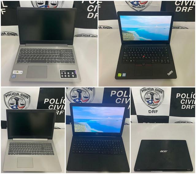 São Luís/MA – Polícia apreende notebooks e prende receptador após anúncio de vendas no OLX