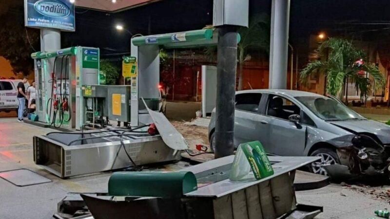 Imperatriz/MA – Homem perde controle de veículo e atinge bomba de gasolina